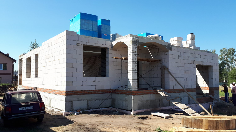 Строительство дома в посёлке «Первозванный»